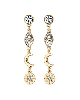 Lipsy Gold Plated Celestial Drop Earring