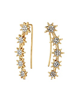 Lipsy Gold Plated Star Crawler Earring