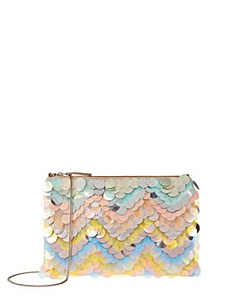 Accessorize Holly Sequin Chevron Ziptop
