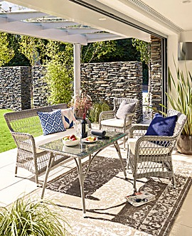 Stratford 4 Piece Rattan Lounge Set