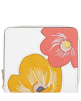 Accessorize Floral Applique Small Wallet