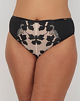 Figleaves Curve Satin Leaf Brazilian Brief