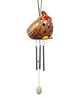 Ceramic Chicken Solar Windchime