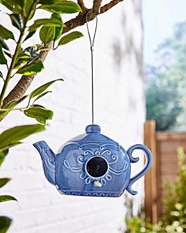 Teapot Ceramic Birdhouse