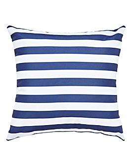 Navy Stripe Outdoor Cushion