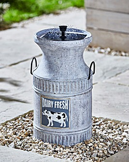 Milkchurn Solar Fountain