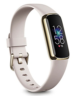 Fitbit Luxe Fitness & Wellness Tracker - Soft Gold/White