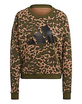 adidas Leopard Print Sweatshirt