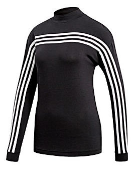 adidas Must Have 3 Stripe Long Sleeve T-Shirt