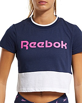 Reebok Linear Logo Crop