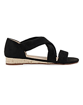 Soft Strap Espadrille Sandals Extra Wide EEE Fit