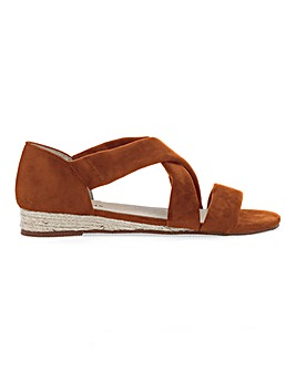 Soft Strap Espadrille Sandals Wide E Fit