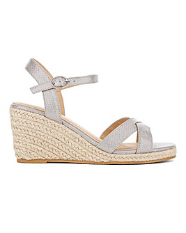 Crossover Strap Espadrille Wedge Sandals Wide E Fit
