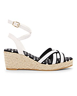 Ankle Wrap Wedge Espadrille Sandals Wide E Fit