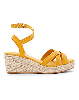 Ankle Wrap Wedge Espadrille Sandals Extra Wide EEE Fit