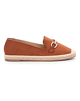 Trim Detail Espadrille Loafers Wide E Fit