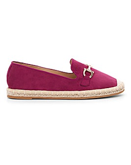 Trim Detail Espadrille Loafers Extra Wide EEE Fit