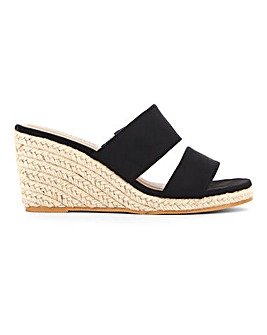 Wedge Mule Espadrille Sandals Extra Wide EEE Fit