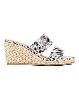 Wedge Mule Espadrille Sandals Wide E Fit