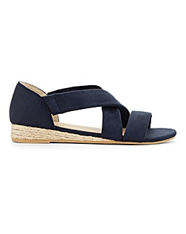 Soft Strap Espadrille Sandals E Fit