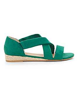 Soft Strap Espadrille Sandals Ultra Wide EEEEE Fit