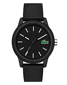 Lacoste Mens Black Silicone Strap Watch