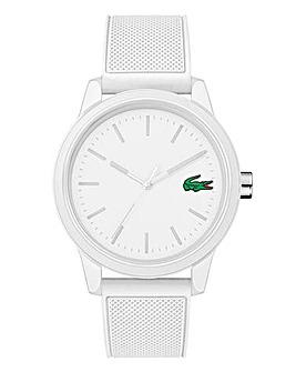 Lacoste Mens White Silicone Strap Watch