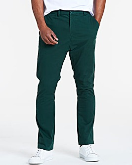 Forest Green Regular Fit Stretch Chinos 33 Inch