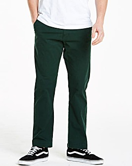Forest Green Regular Fit Stretch Chinos 31 Inch