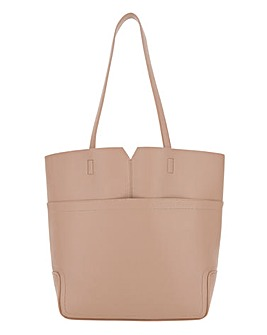 Large Pocket Tan Shopper Bag
