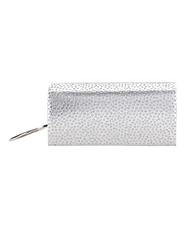 Rhinestone Foldover Clutch With Crystals