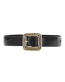 Square Oversized Buckle Belt