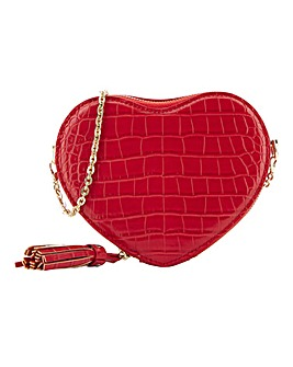 Red Heart Shape Crossbody Bag