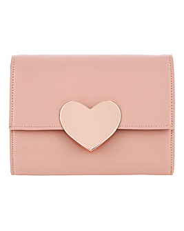 Valentines Solid Heart Clutch