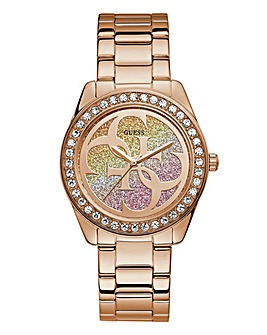 Guess Ladies Rose Gold Bracelet Watch