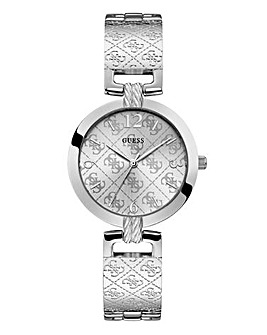 Guess Ladies Blush Rhod Bracelet Watch
