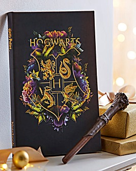 Harry Potter Floral Notebook & Wand Pen