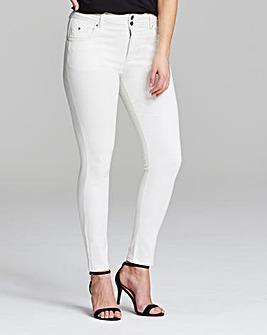 White Shape & Sculpt Skinny Jeans Short