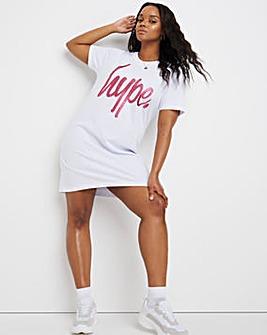 Hype Glitter Script T-Shirt Dress