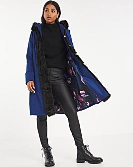 Joe Browns Fux Fur Trim Coat