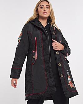 Joe Browns Embroidered Parka Coat