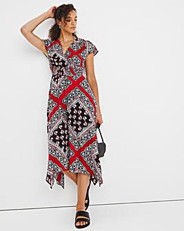 Joe Browns Scarf Print Wrap Dress