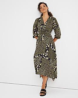 Joe Browns Mixed Print Wrap Midi Dress