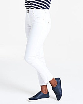 White Shape & Sculpt Straight Leg Jeans