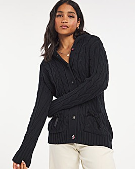 Joe Browns Cable Hooded Cardiagn