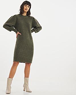 Selected Femme Puff Shoulder Jumper Dress