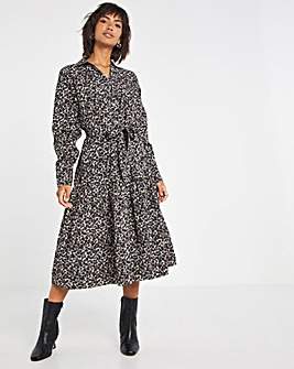 Selected Femme Exagerated Bow Shirt Dress