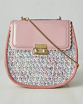 Joe Browns Pink Frill Crossbody Bag