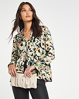 Y.A.S V-Neck Button Down Blouse