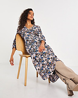 Y.A.S Floral Print Shift Dress